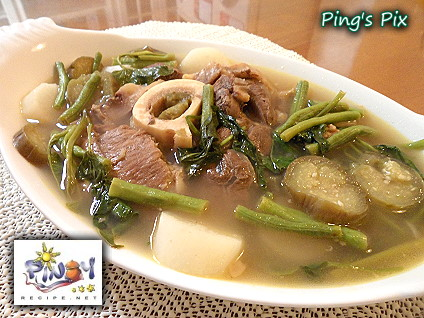 Beautiful image of sinigang na baka